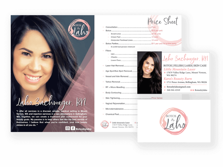 Botox by Laho Flyer and Business Card